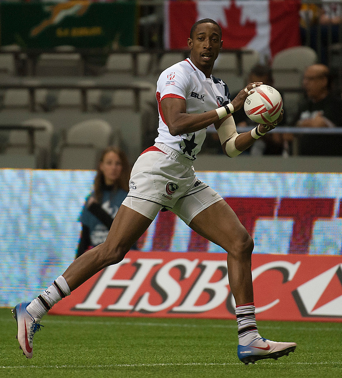 Perry Baker scores a hat trick against Japan during the pool stages of the Canada Sevens,  Round Six of the World Rugby HSBC Sevens Series in Vancouver, British Columbia, Saturday March 11, 2017. <br /> <br /> Jack Megaw.<br /> <br /> www.jackmegaw.com<br /> <br /> jack@jackmegaw.com<br /> @jackmegawphoto<br /> [US] +1 610.764.3094<br /> [UK] +44 07481 764811