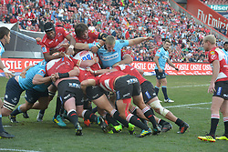 28-07-18 Emirates Airline Park, Johannesburg. Super Rugby semi-final Emirates Lions vs NSW Waratahs. 2nd half. Lions driving towards the try line.<br />  Picture: Karen Sandison/African News Agency (ANA)