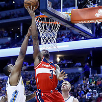 08 March 2017: Washington Wizards guard Bradley Beal (3) goes for the layup against Denver Nuggets forward Darrell Arthur (00) during the Washington Wizards 123-113 victory over the Denver Nuggets, at the Pepsi Center, Denver, Colorado, USA.