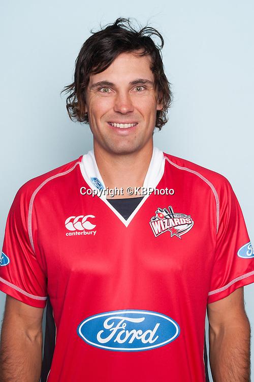 Dean Brownlie, Canterbury Wizards headshots for the 2012/2013 season. New Zealand domestic cricket. Photo: Canterbury Cricket