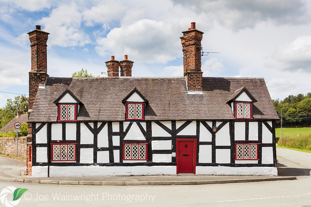 A cottage, constructed in a distinctive local style - at Beeston, Cheshire.
