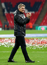 Bastian Schweinsteiger of Manchester United celebrates in his club suit - Mandatory by-line: Matt McNulty/JMP - 26/02/2017 - FOOTBALL - Wembley Stadium - London, England - Manchester United v Southampton - EFL Cup Final