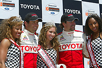 Apr 12, 2003; Long Beach, CA, USA; Pro Category Winner JEREMY McGRATH & overall race winner PETER RECKELL with grand prix queens @ the 27th Annual Pro/Celebrity Race in Long Beach racing Toyota Celica race cars.  Driving 10 laps on a 1.97 mile track along shoreline drive. <br />