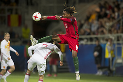 June 20, 2017 - Gdynia, Poland - Renato Sanches of Portugal jumps for the ball during the UEFA European Under-21 Championship 2017  Group B match between Portugal and Spain at Gdynia Stadium in Gdynia, Poland on June 20, 2017  (Credit Image: © Andrew Surma/NurPhoto via ZUMA Press)