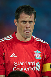 TRABZON, TURKEY - Thursday, August 26, 2010: Liverpool's Jamie Carragher before the UEFA Europa League Play-Off 2nd Leg match against Trabzonspor at the Huseyin Avni Aker Stadium. (Pic by: David Rawcliffe/Propaganda)