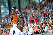European Champion Jeroen Dubbeldam and SFN Zenith N.O.P.<br /> FEI European Championships Aachen 2015<br /> &copy; DigiShots