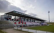 FODBOLD: Et kig udover stadion før kampen i NordicBet Ligaen mellem FC Fredericia og FC Helsingør den 10. marts 2019 på Monjasa Park i Fredericia. Foto: Claus Birch