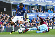 Everton striker Theo Walcott (11) during the Premier League match between Everton and West Ham United at Goodison Park, Liverpool, England on 16 September 2018.