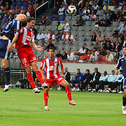 NLD/Amsterdam/20070802 - LG Amsterdams Tournament 2007, Ajax - Atletico Madrid, Jaap Stam in duel met Mista