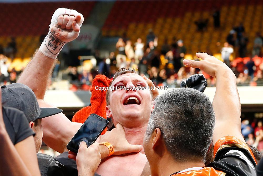 "Manny Pacquiao vs. Jeff Horn, ""Battle of Brisbane"" boxing match for the WBO welterweight championship. Suncorp Stadium in Brisbane, Queensland, Australia. 2 July 2017. Copyright Image: Jason O'Brien / www.photosport.nz"