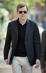© Licensed to London News Pictures. 15/05/2016. London, UK.  Labour party leader Jeremy Corbyn's Executive Director of Strategy and Communications Seumas Milne arrives for  ITV's Peston's Politics. Photo credit: Peter Macdiarmid/LNP