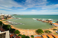 Brasil - Guarapari - Espirito Santo - Vista da Praia das Castanheiras no Centro de Guarapari - Foto: Gabriel Lordello/ Mosaico Imagem