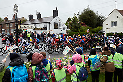 The peloton speed through Barwick at ASDA Tour de Yorkshire Women's Race 2019 - Stage 1, a 132 km road race from Barnsley to Bedale, United Kingdom on May 3, 2019. Photo by Sean Robinson/velofocus.com