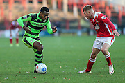 Forest Green Rovers Dale Bennett(6) during the Vanarama National League match between Wrexham FC and Forest Green Rovers at the Racecourse Ground, Wrexham, United Kingdom on 26 November 2016. Photo by Shane Healey.