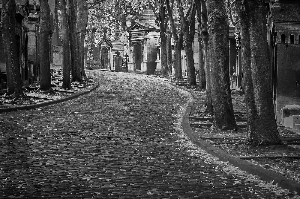 Cemetery Lane, Pere Lachaise, Paris, France
