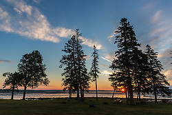 Sunrise on Thompson Island in Maine's Acadia National Park.