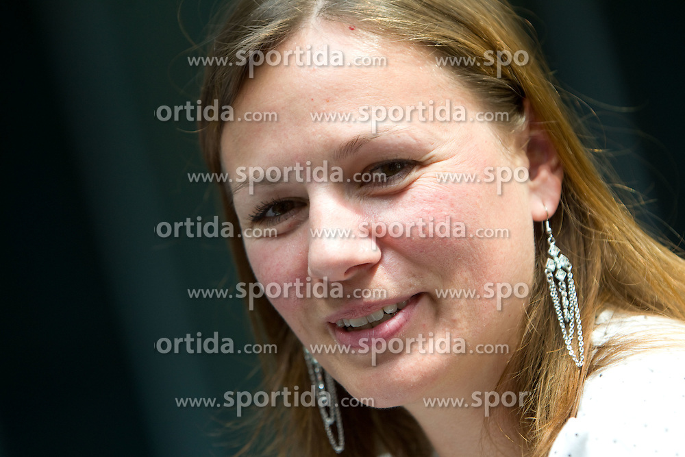 Natasa Crnkovic at press conference of Slovenian athlete Matic Osovnikar, on June 21, 2011, in Rotonda, Ljubljana, Slovenia. (Photo by Vid Ponikvar / Sportida)