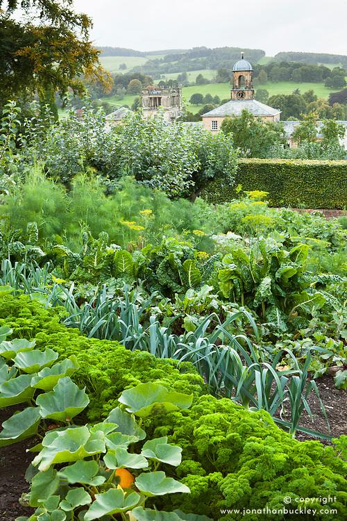 The kitchen garden at Chatsworth House, Derbyshire