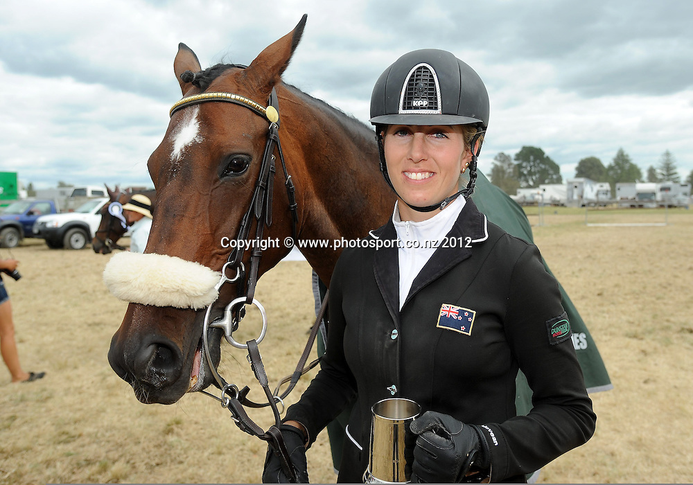Katie McVean wins the FEI World Cup series and gains the right to represent New Zealand at the world final, Tauranga, New Zealand. Sunday 05 February 2012. Photo: Kerry Marshall / photosport.co.nz