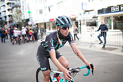 Maria Vittoria Sperotto (ITA) of Bigla Pro Cycling Team finishes the AG Driedaagse Brugge-De Panne - a 134.4 km road race, between Brugge and De Panne on April 21, 2018, in West Flanders, Belgium. (Photo by Balint Hamvas/Velofocus.com)