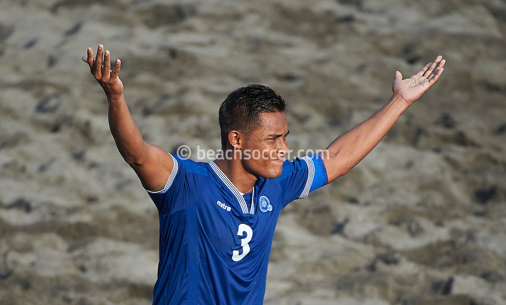 El Salvador midfielder Heber during the Copa Pilsener 2016.