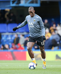 Willy Boly of Wolverhampton Wanderers warms up - Mandatory by-line: Arron Gent/JMP - 10/03/2019 - FOOTBALL - Stamford Bridge - London, England - Chelsea v Wolverhampton Wanderers - Premier League