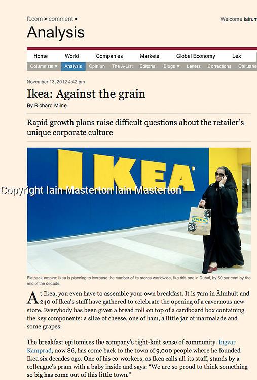 Financial Times; IKEA store in Dubai