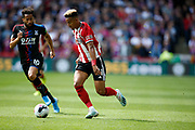 Callum Robinson of Sheffield United during the Premier League match between Sheffield United and Crystal Palace at Bramall Lane, Sheffield, England on 18 August 2019.