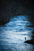 Fly fishing on the North Fork of the Trask River, near Tillamook, Oregon.