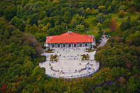 Aerial view of Downtown Montreal Aerial view of Chalet Du Mont Royal, Montreal Canada