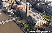 aerial photograph of  the Tate Modern Southwark  London England UK