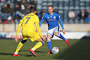Matty Done during the EFL Sky Bet League 1 match between Rochdale and AFC Wimbledon at Spotland, Rochdale, England on 17 March 2018. Picture by Daniel Youngs.