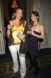 Left to right, HENRIETTA CLARKE HALL and GEORGIE TRASENSTER at a party to celebrate the launch of The Essential Party Guide held at the Mandarin Oriental Hyde Park, 66 Knightsbridge, London on 27th March 2007.<br />