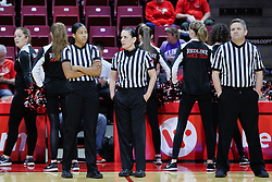 NORMAL, IL - January 06: Kayla Maxey, Michelle Del Duco , Todd Moistner during a college women's basketball game between the ISU Redbirds and the Drake Bulldogs on January 06 2019 at Redbird Arena in Normal, IL. (Photo by Alan Look)