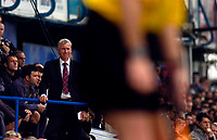 Photo: Alan Crowhurst.<br />Portsmouth v West Ham United. The Barclays Premiership. 14/10/2006. Hammer's manager Alan Pardew looks worried.