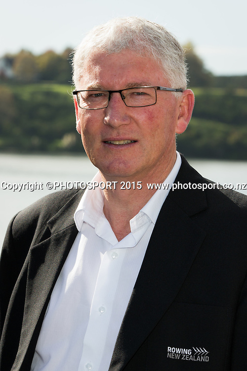 Rowing NZ chairman Gerald Dwyer at the Rowing NZ Media Day, Lake Karapiro, Cambridge, New Zealand, Wednesday 6 May 2015. Photo: Stephen Barker/Photosport.co.nz