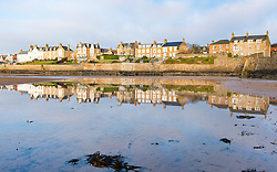 View of village of Elie on East Neuk of Fife in Scotland, United Kingdom