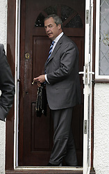 © Licensed to London News Pictures. 26/05/2014 Exclusive pictures of Nigel Farage this morning outside his Biggin Hill home in Kent. Nigel Farage returning home this morning (26.05.14) after a great night for his UKIP party in the European elections. Photo credit :Grant Falvey/LNP