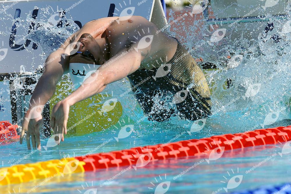 Daniel Orzechowski<br /> 50m Backstroke Men<br /> Roma 13/6/2013 Piscina del Foro Italico <br /> Nuoto 50mo trofeo Settecolli<br /> Settecolli 50th International swimming trophy <br /> Foto Antonietta Baldassarre Insidefoto