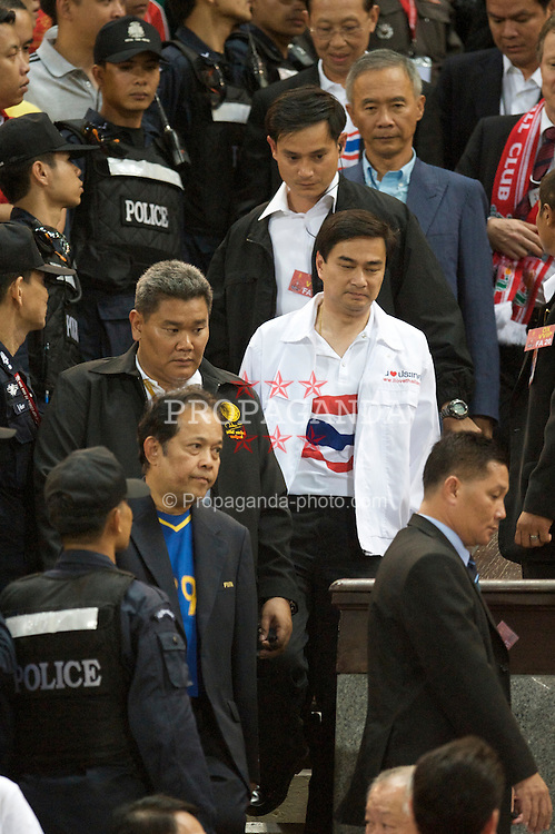 BANGKOK, THAILAND - Wednesday, July 22, 2009: Thailand's Prime Minister Abhisit Vejjajiva during a preseason friendly match between Liverpool and Thailand at the Rajamangala Stadium. (Pic by David Rawcliffe/Propaganda)