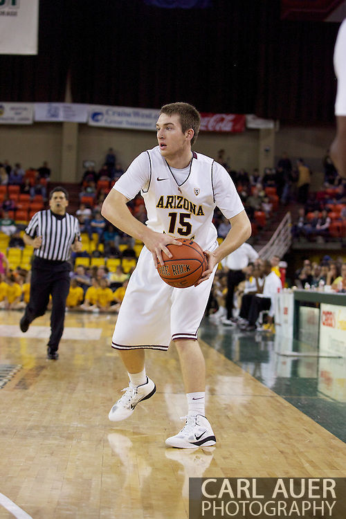 November 27th, 2010:  Anchorage, Alaska - Arizona State's Chanse Creekmur (15) in the Sun Devil's 58-67 loss to St. Johns in the championship game of the Great Alaska Shootout.