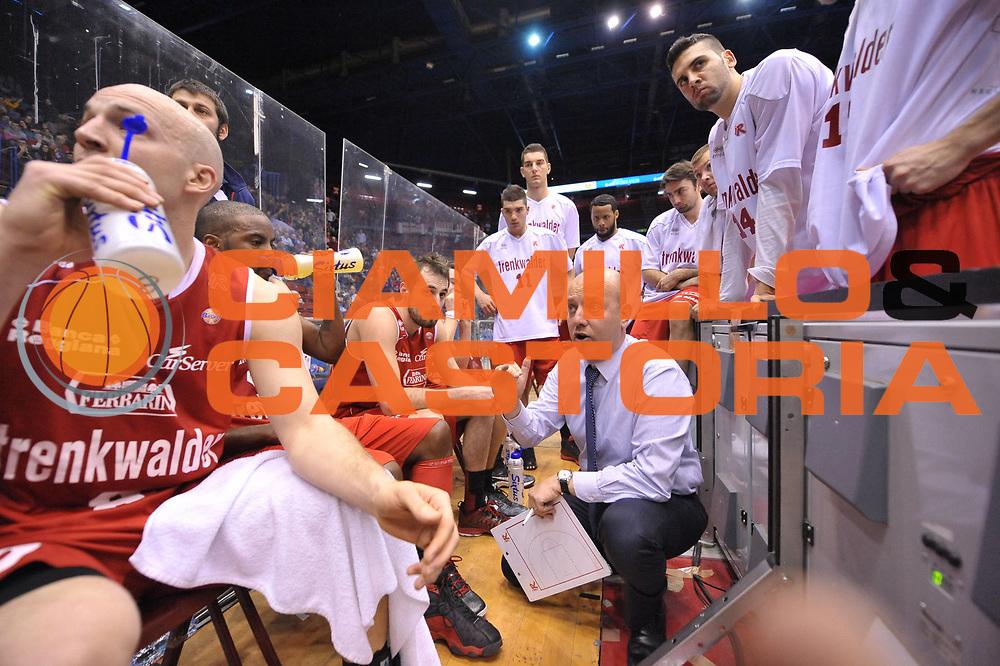 DESCRIZIONE : Milano Coppa Italia Final Eight 2013 Quarti di Finale Montepaschi Siena Trenkwalder Reggio Emilia<br /> GIOCATORE : Team<br /> CATEGORIA : Time Out<br /> SQUADRA : Trenkwalder Reggio Emilia<br /> EVENTO : Beko Coppa Italia Final Eight 2013<br /> GARA : Montepaschi Siena Trenkwalder Reggio Emilia<br /> DATA : 08/02/2013<br /> SPORT : Pallacanestro<br /> AUTORE : Agenzia Ciamillo-Castoria/V.Tasco<br /> Galleria : Lega Basket Final Eight Coppa Italia 2013<br /> Fotonotizia : Milano Coppa Italia Final Eight 2013 Quarti di Finale Montepaschi Siena Trenkwalder Reggio Emilia<br /> Predefinita :