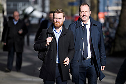© Licensed to London News Pictures. 20/02/2019. London, UK. Former advisor to Nick Cleg, JAMES MCGORY (L) and former Director of Comminications for Labour TOM BALDWIN, who both now work for the Peopel's Vote campaign, seen in Westminster London. Photo credit: Ben Cawthra/LNP