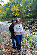 10/14/12 9:27:39 AM - Newtown, PA.. -- Amanda & Elliot October 14, 2012 in Newtown, Pennsylvania. -- (Photo by William Thomas Cain/Cain Images)