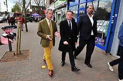 © Licensed to London News Pictures. 30/04/2016<br /> PETER WHITTLE   London Mayoral candidate for UKIP with NIGEL FARAGE UKIP Leader. <br /> <br /> UKIP Leader Nigel Farage campaigning with UKIP's London Mayoral candidate Peter Whittle in Orpington High Street,Orpington,Kent today (30.04.2016).<br /> <br /> (Byline:Grant Falvey/LNP)
