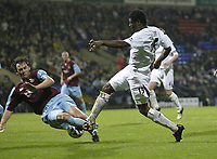 Photo: Aidan Ellis.<br /> Bolton Wanderers v West Ham Utd. Carling Cup.<br /> 26/10/2005.<br /> West Ham's Christian Dailly makes a brilliant tackle to deny Bolton's Radhi Jaidi his teams best effort on goal