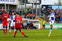 Liam Sercombe of Bristol Rovers shoots - Rogan/JMP - 28/04/2018 - FOOTBALL - Memorial Stadium - Bristol, England - Bristol Rovers v Gillingham - EFL Sky Bet League One.