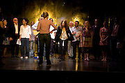 THE CAST WITH PATTI SMITH IN THE MIDDLE,  'Cries from the Heart' presented by Human Rights Watch at the Theatre Royal Haymarket. London. Party afterwards at the Haymarket Hotel. June 8, 2008 *** Local Caption *** -DO NOT ARCHIVE-© Copyright Photograph by Dafydd Jones. 248 Clapham Rd. London SW9 0PZ. Tel 0207 820 0771. www.dafjones.com.