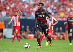 CHICAGO, USA - Sunday, July 27, 2014: Liverpool's Daniel Sturridge in action against Olympiacos during the International Champions Cup Group B match at the Soldier Field Stadium on day seven of the club's USA Tour. (Pic by David Rawcliffe/Propaganda)
