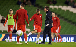 DUBLIN, IRELAND - Tuesday, October 16, 2018: Wales' Ronan Kavanagh during the pre-match warm-up before the UEFA Nations League Group Stage League B Group 4 match between Republic of Ireland and Wales at the Aviva Stadium. (Pic by David Rawcliffe/Propaganda)